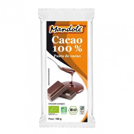 CHOCOLATE NEGRO 100% CACAO BIO 100G Image